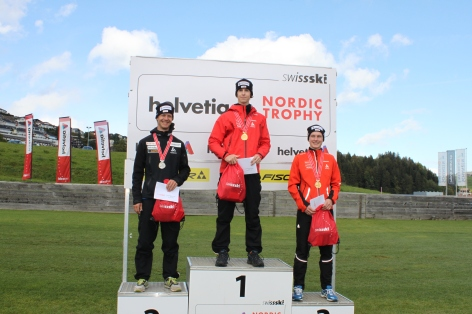 Podium from the swiss NC championship; 1. Tim Hug, 2. Seppi Hurschler, 3. Christian Erichsen