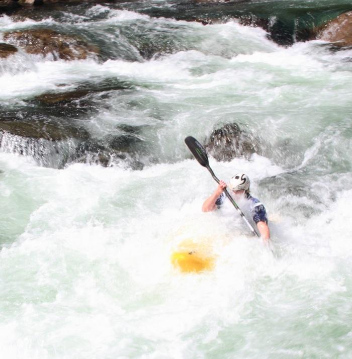 """River kayaking during """"Horgi ned"""" at Ekstremsportveko in Voss"""